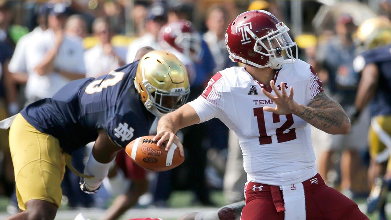 Temple Owls fall to Notre Dame in season opener
