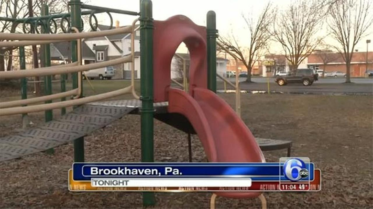 Razor blade found on playground