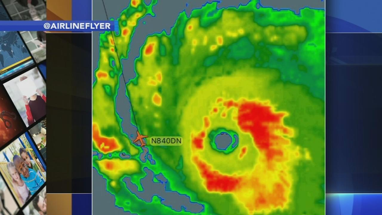 Delta flight from Puerto Rico flies straight into Hurricane Irma