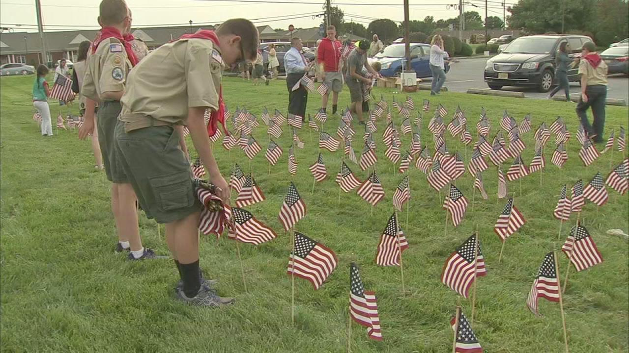 Scouts plant flags to honor 9/11 victims