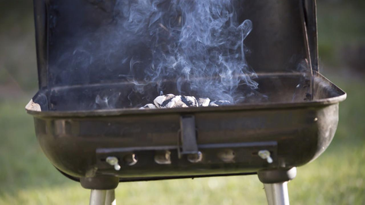 Man impaled on barbecue grill stand after falling from roof