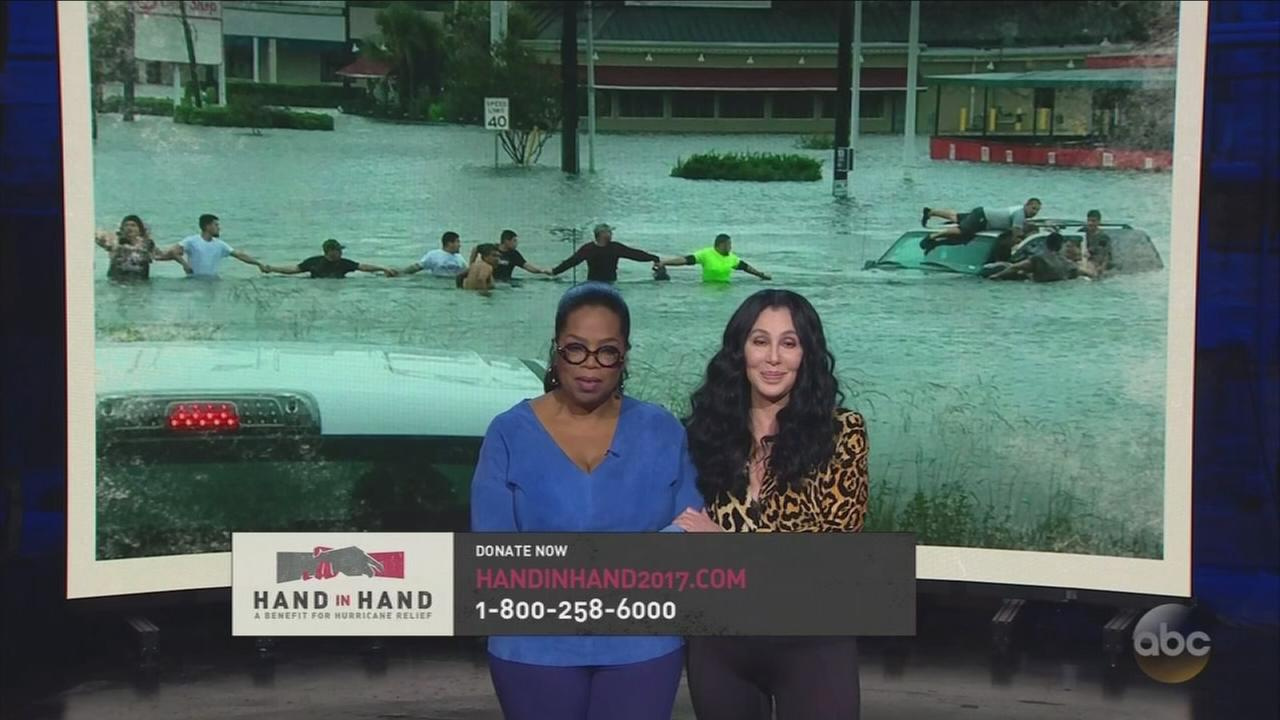 Stars turn out to push for donations for hurricane relief