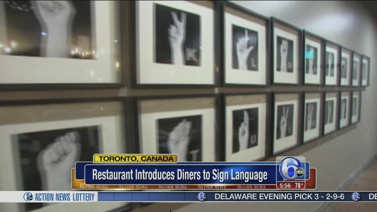 VIDEO: Restaurant introduces diners to sign language