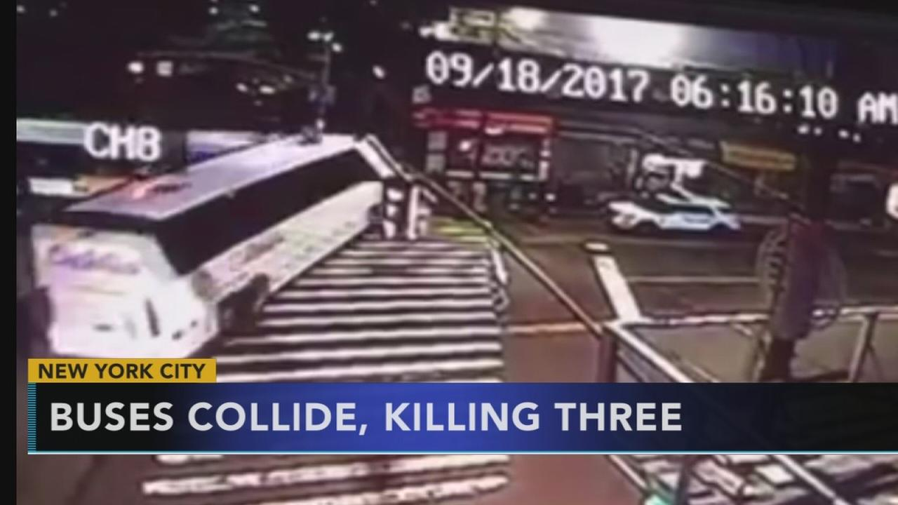VIDEO shows deadly bus crash in Queens
