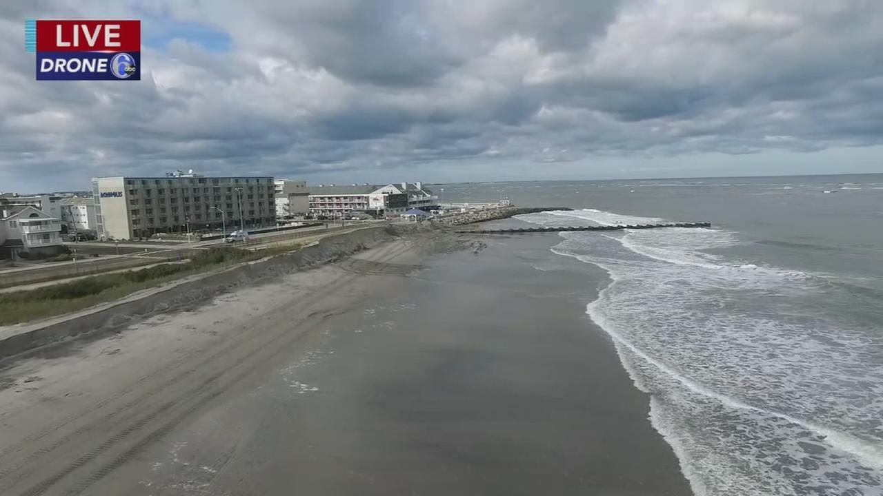 Works begins to repair beach erosion at Jersey shore
