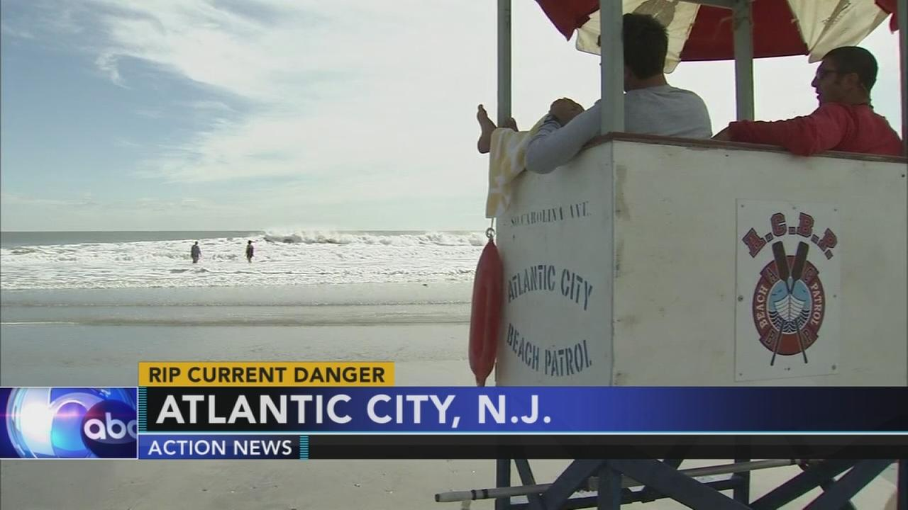 Strong rip currents at the Jersey shore this weekend