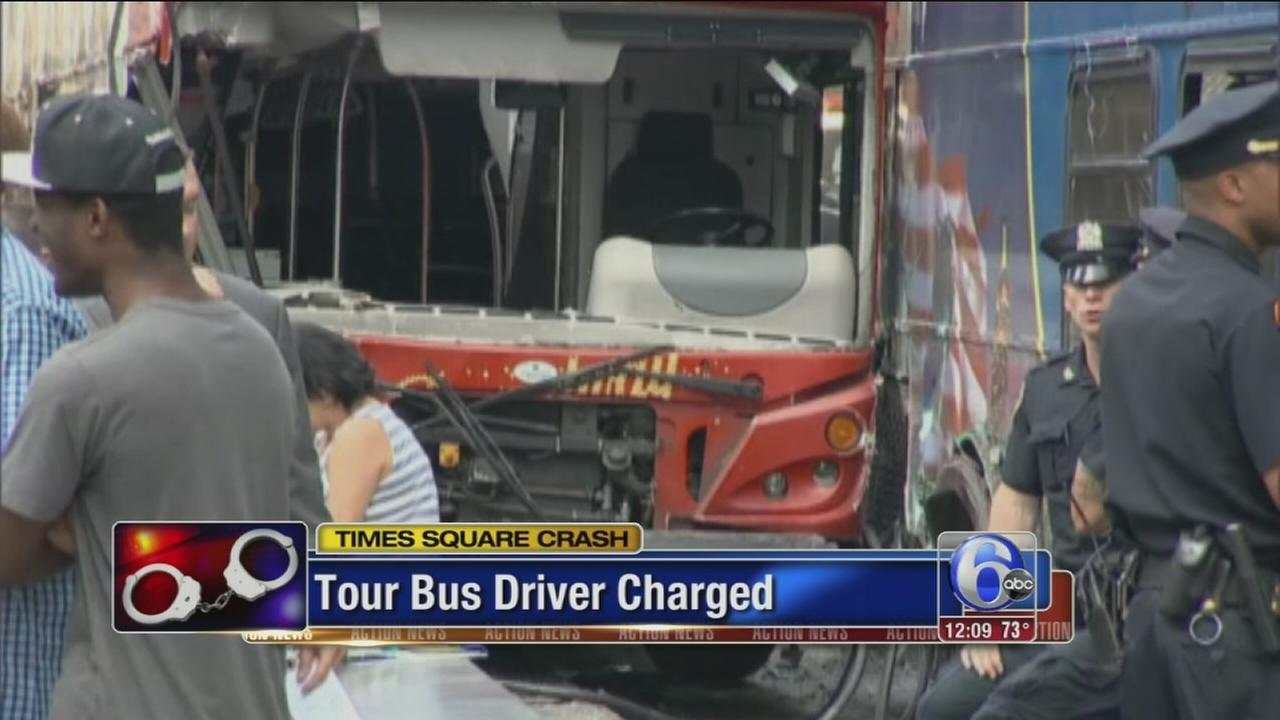 VIDEO: Bus driver charged in Times Sq. crash
