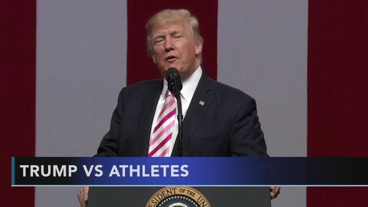 Trump comments on Curry, NFL protests anger athletes
