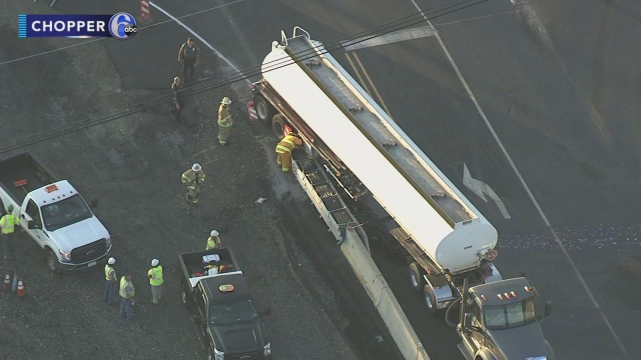 Tanker truck crashes in Warrington