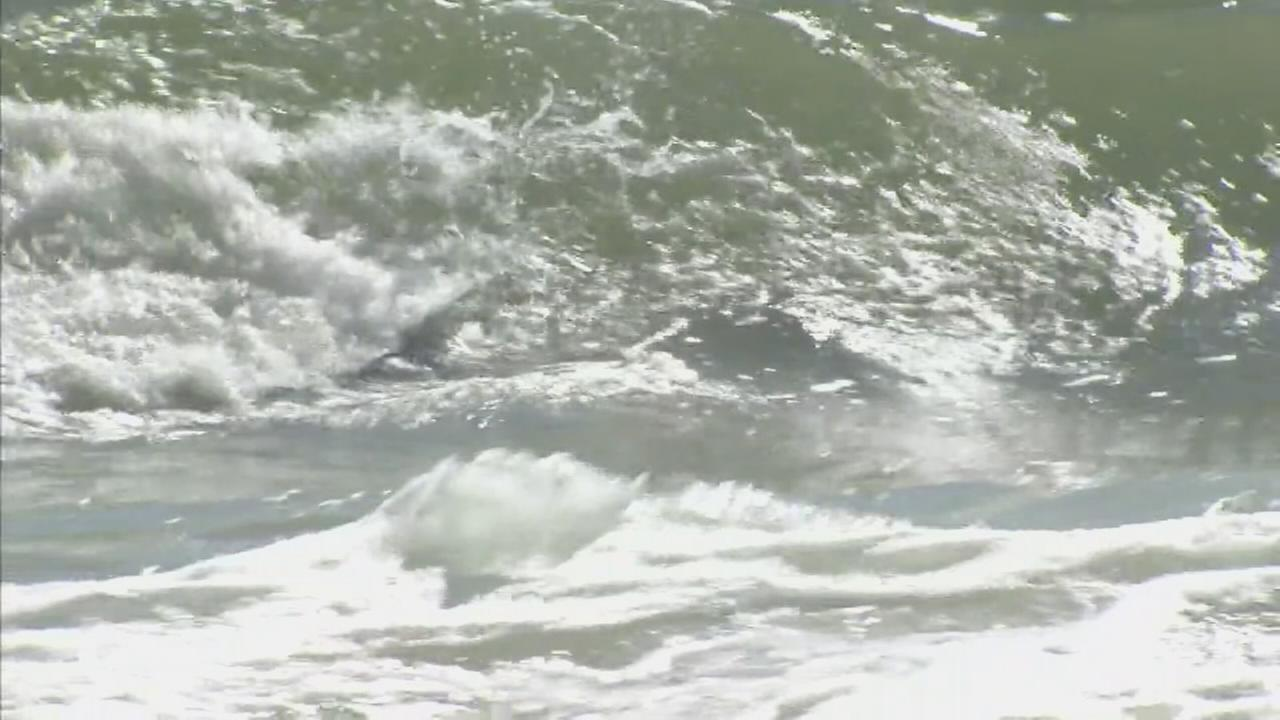 Dangerous rip currents at the Jersey Shore