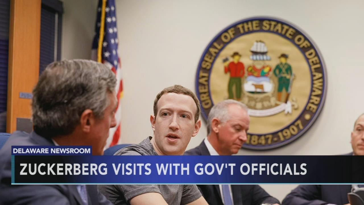 Zuckerberg visits with Del. government officials