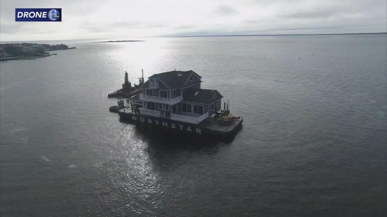 House on LBI  travels 3 miles to new location