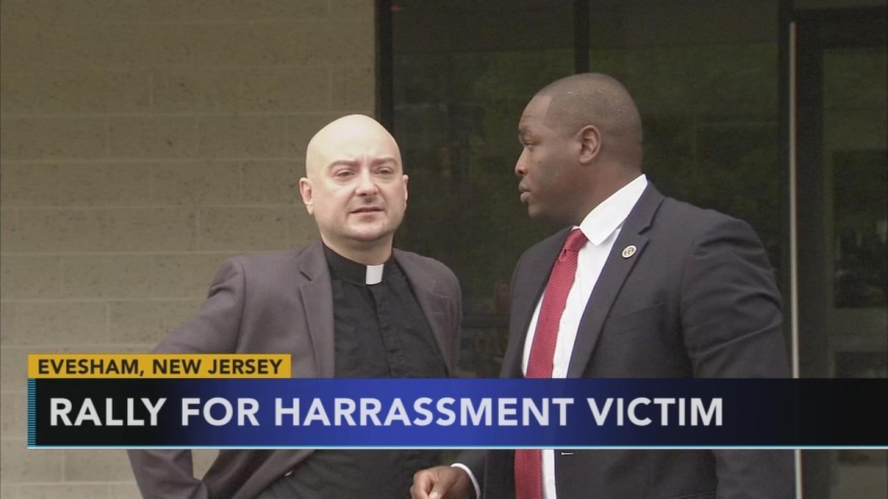 Rally for harrassment victim