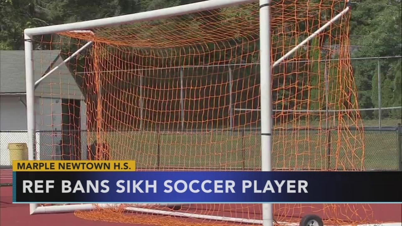 Referee in school game bans Sikh soccer player