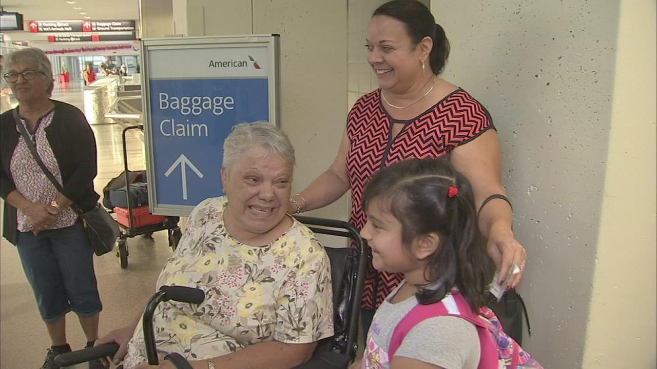 Relatives reunited with loved ones returning from Puerto Rico