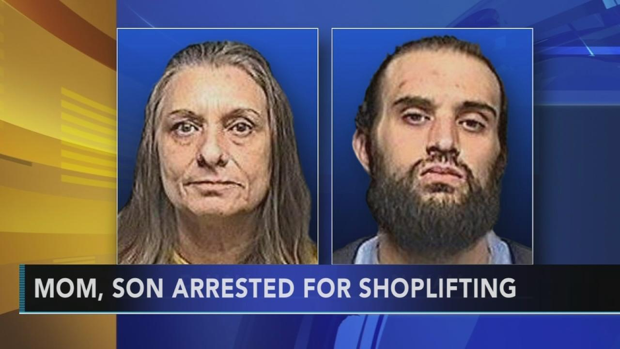 Mother, son arrested for shoplifting