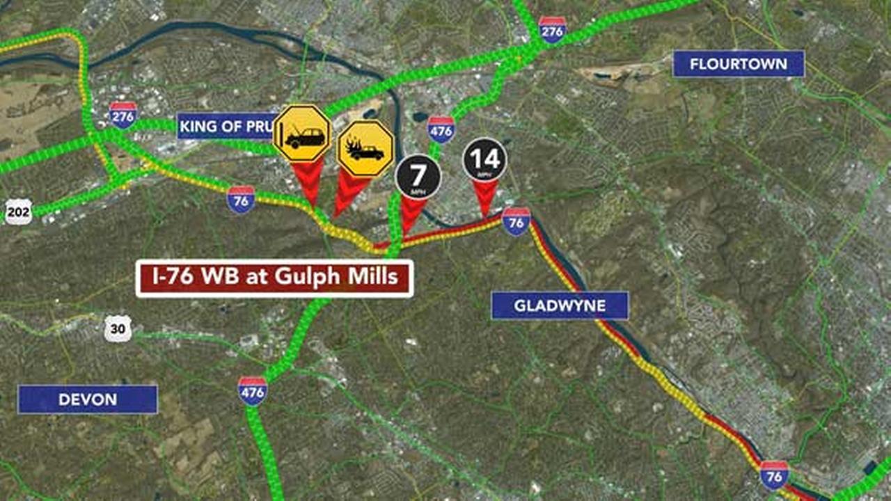 Crash causes major backup on Schuylkill Expressway