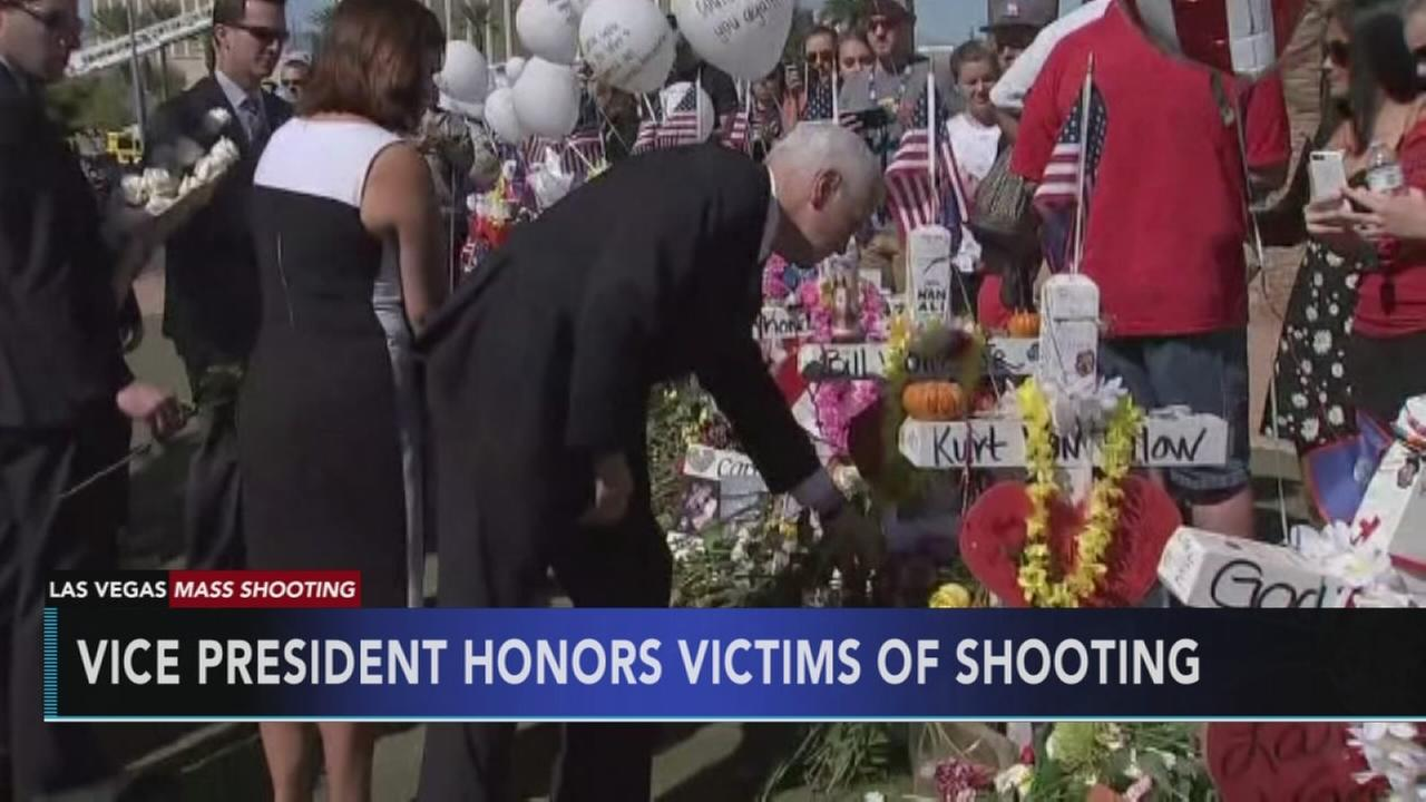 In Vegas, Pence praises US resolve to find hope after horror