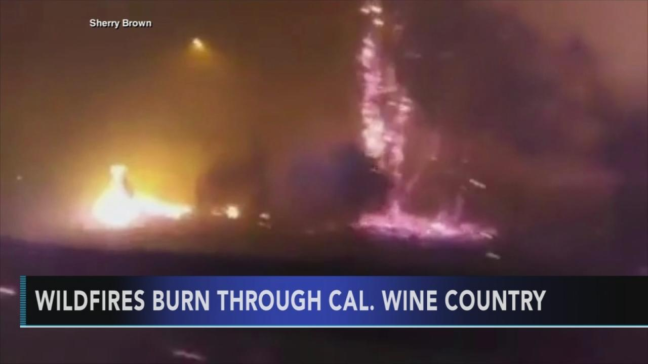 Wine country wildfires torch California homes