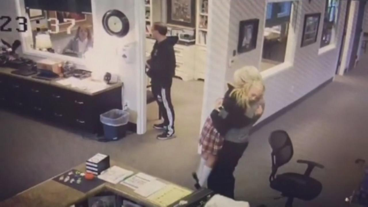 Adoption surprise caught on camera