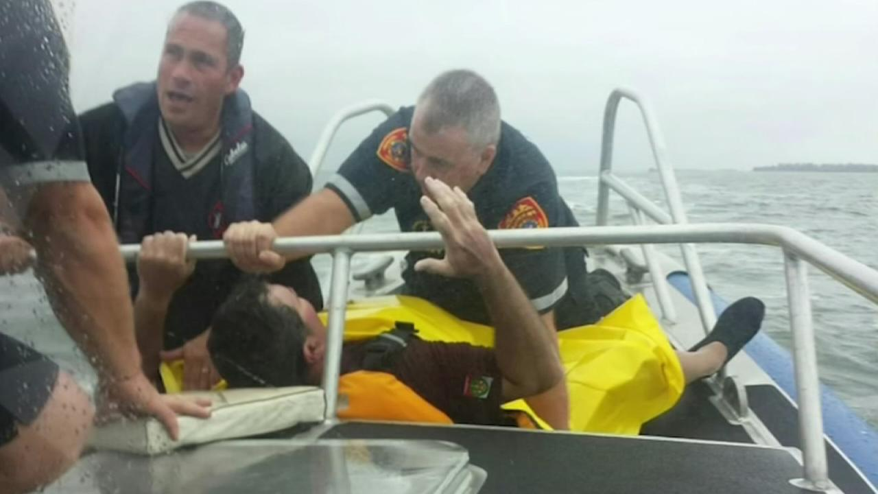 Man survives 17 hours in Long Island Sound