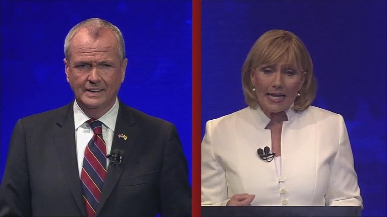 NJ gubernatorial candidates face off in fiery debate