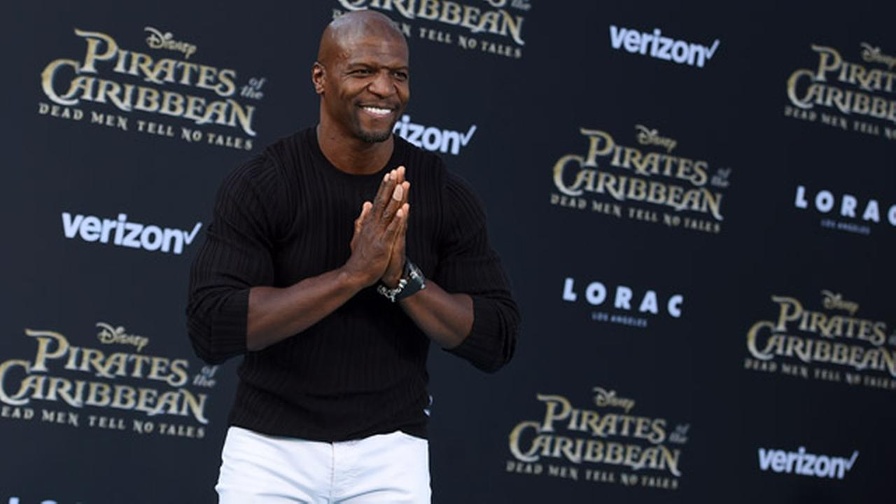 Terry Crews arrives at the Los Angeles premiere of Pirates of the Caribbean: Dead Men Tell No Tales at the Dolby Theatre on Thursday, May 18, 2017.