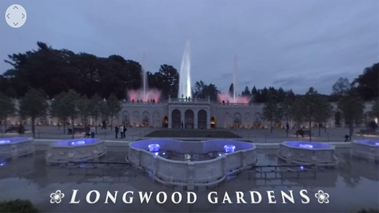 6abc 360 videos: Longwood Gardens Fountain Show