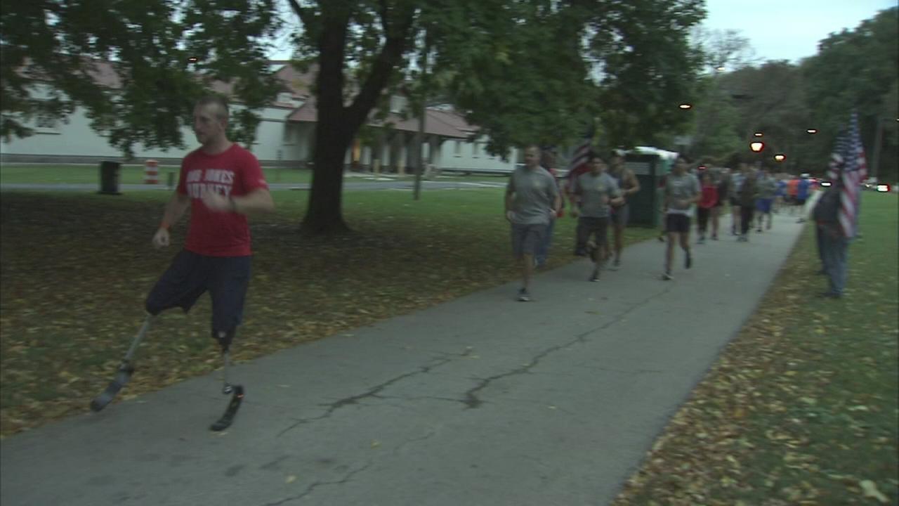 Marine running 31 marathons visits Philly