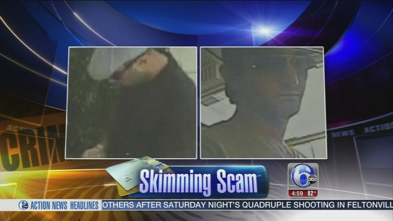 VIDEO: Suspects net thousands in Bucks County skimming scam
