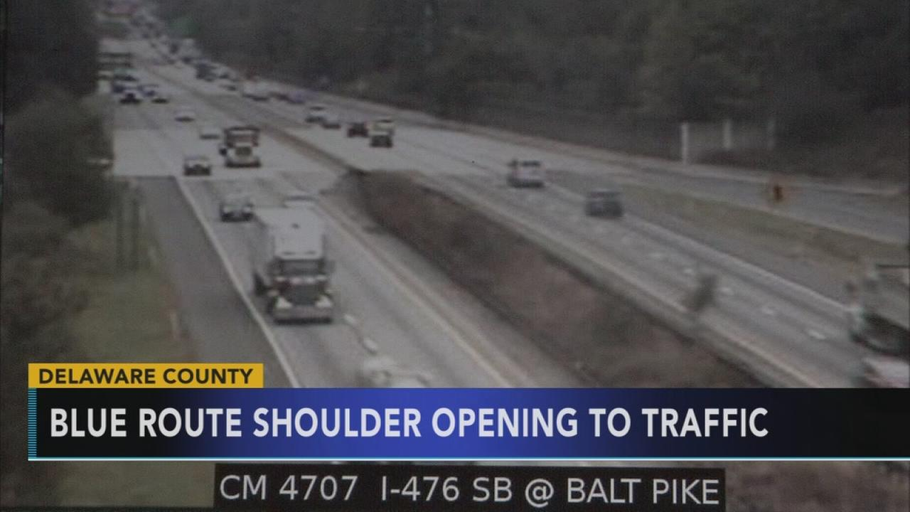 Blue Route shoulder to open to traffic