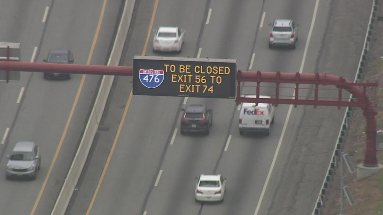 Long stretch of NE Extension closed this weekend