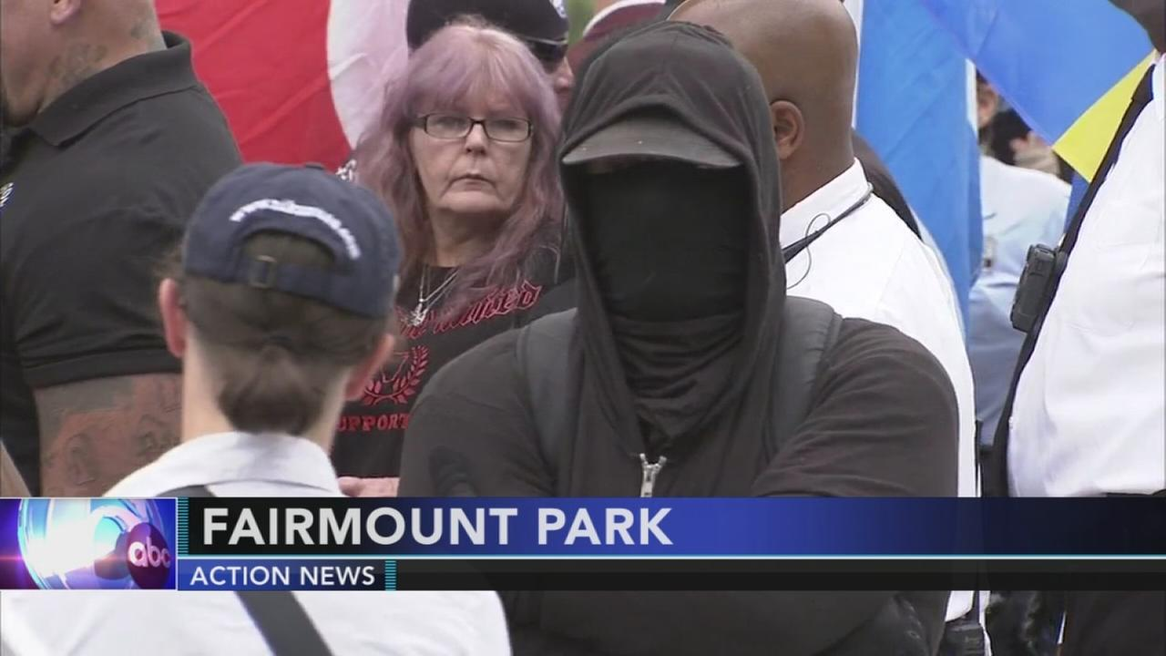 VIDEO: White supremacists rally along Boathouse Row