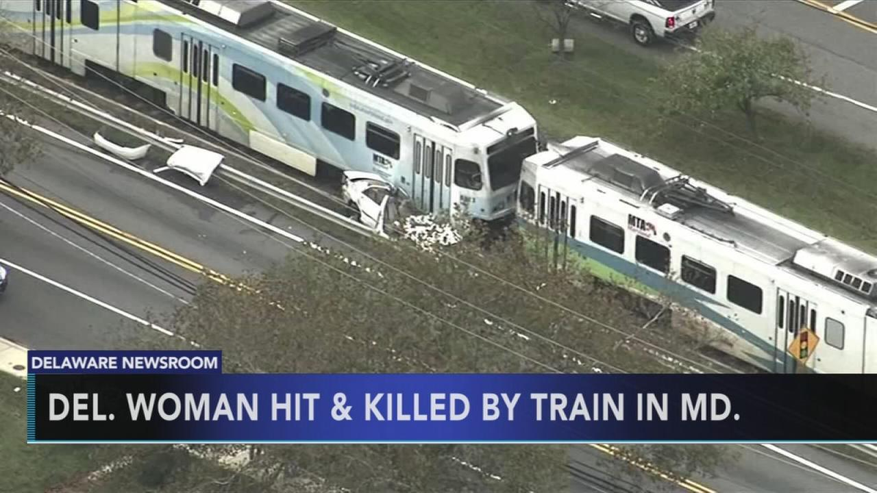 VIDEO: Del. grandmother dies after train hits car in Maryland