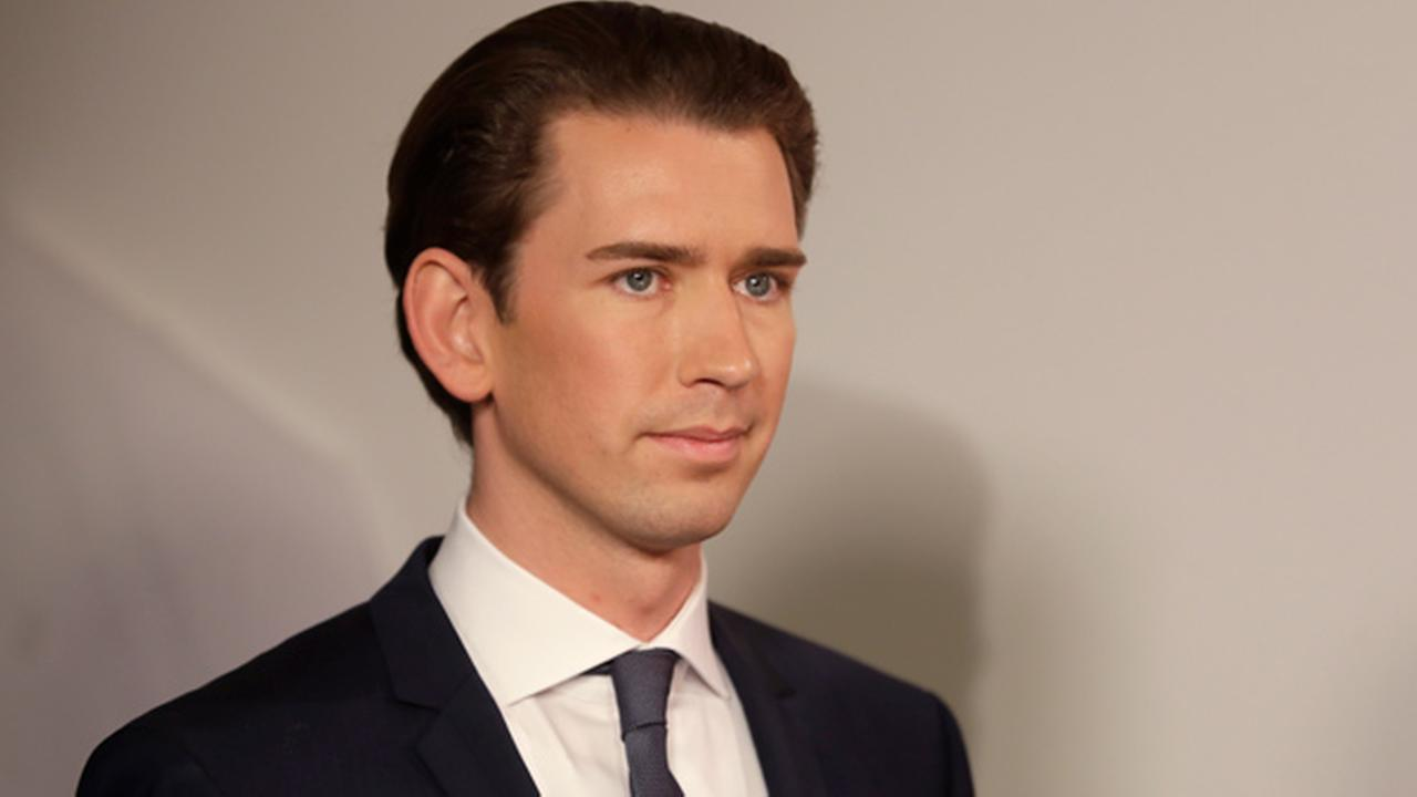 Foreign Minister Sebastian Kurz, head of Austrian Peoples Party, smiles in Vienna, Austria, Sunday, Oct. 15, 2017.