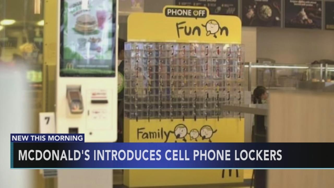McDonalds introduces cell phone lockers