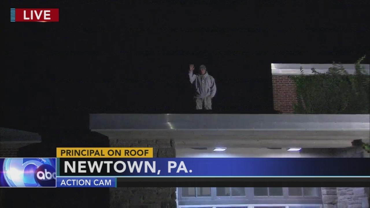 Bucks County principal spends night on roof