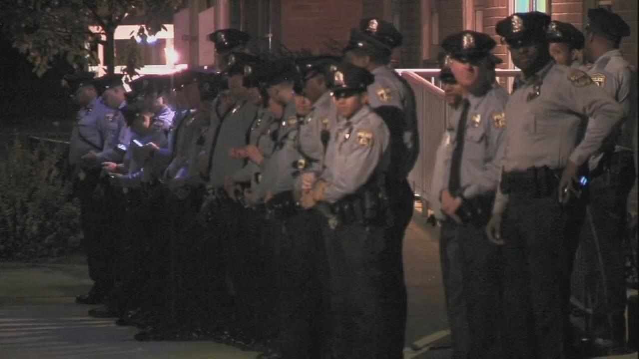 Police protests continued in Philadelphia