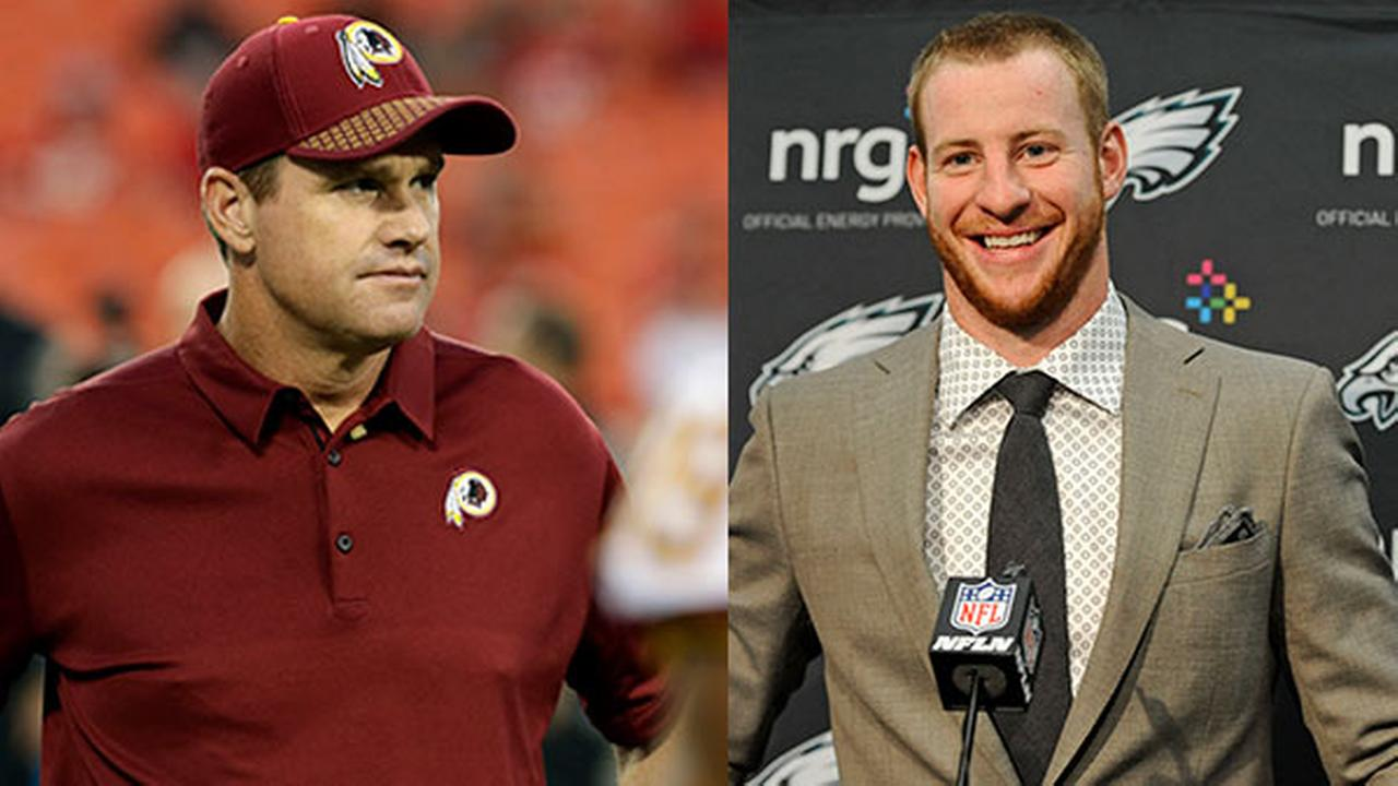 Jay Gruden prefers if Carson Wentz went to the Browns