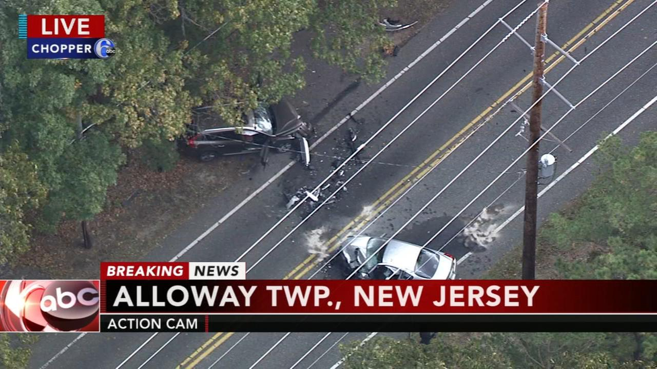 Person ejected from vehicle in Salem County collision