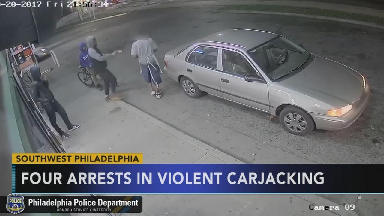 4 of 5 suspects arrested in violent pizza delivery carjacking in Southwest Philadelphia