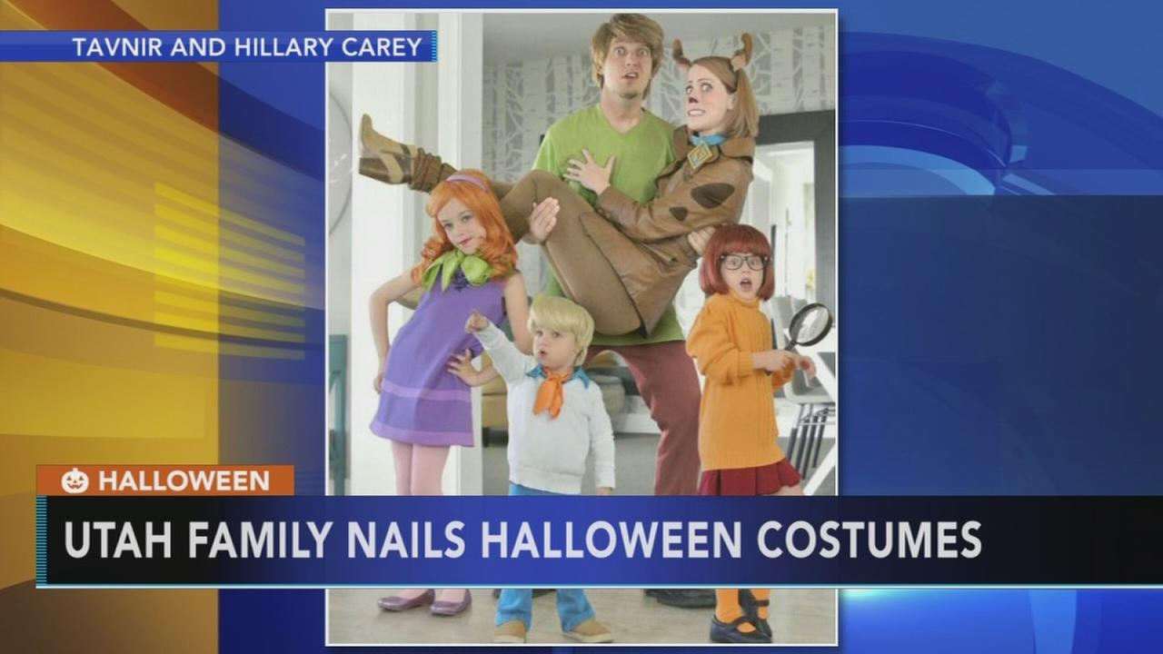 Family wins Halloween with incredible costumes