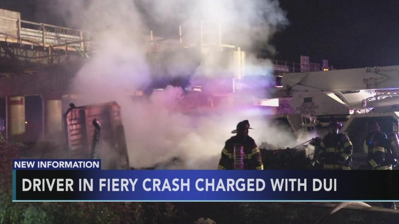 Driver in fiery I-295 crash charged with DUI