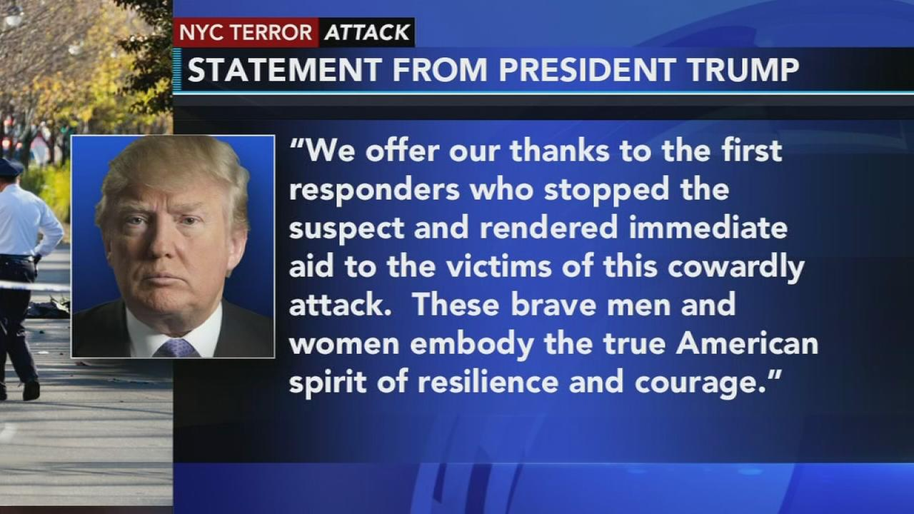 White House issues statement on NYC terror attack