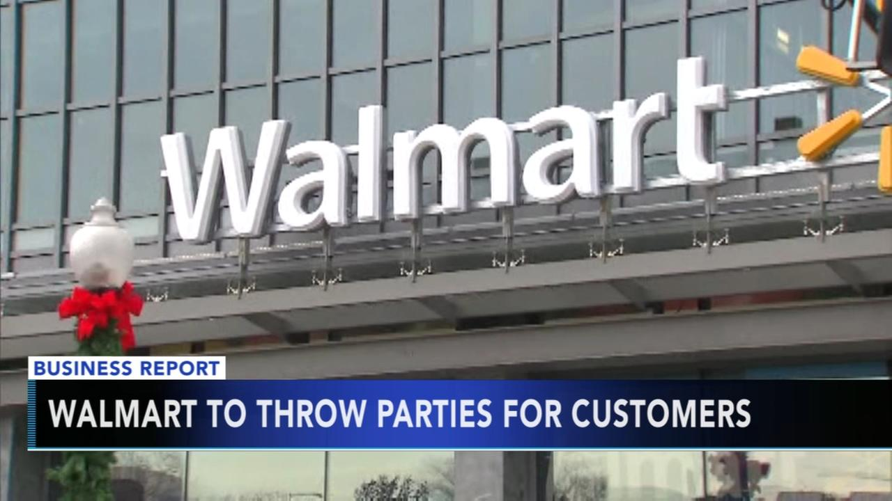 Walmart to throw parties for customers