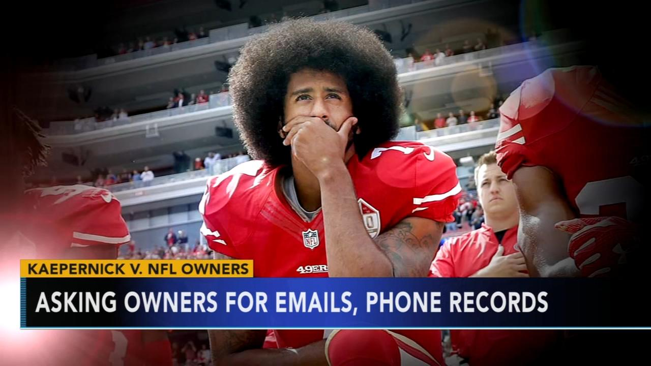 NFL owners asked to hand over cell phone records, emails in Kaepernicks collusion case