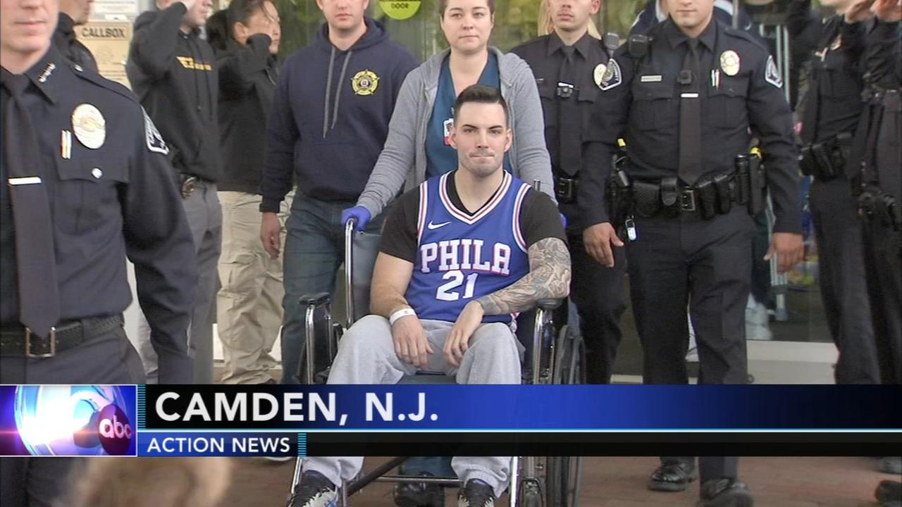 Camden County police officer released from hospital