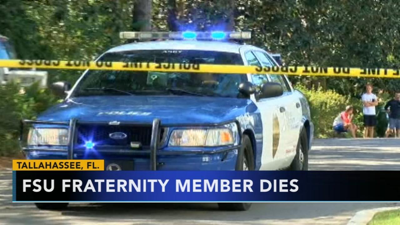 Florida State fraternity pledge found dead after party