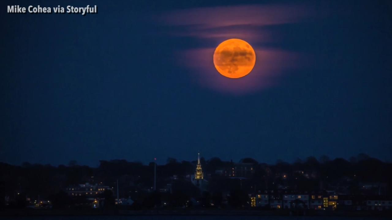 Video Rhode Island Supermoon Rises In Beautiful Timelapse 6abc Com