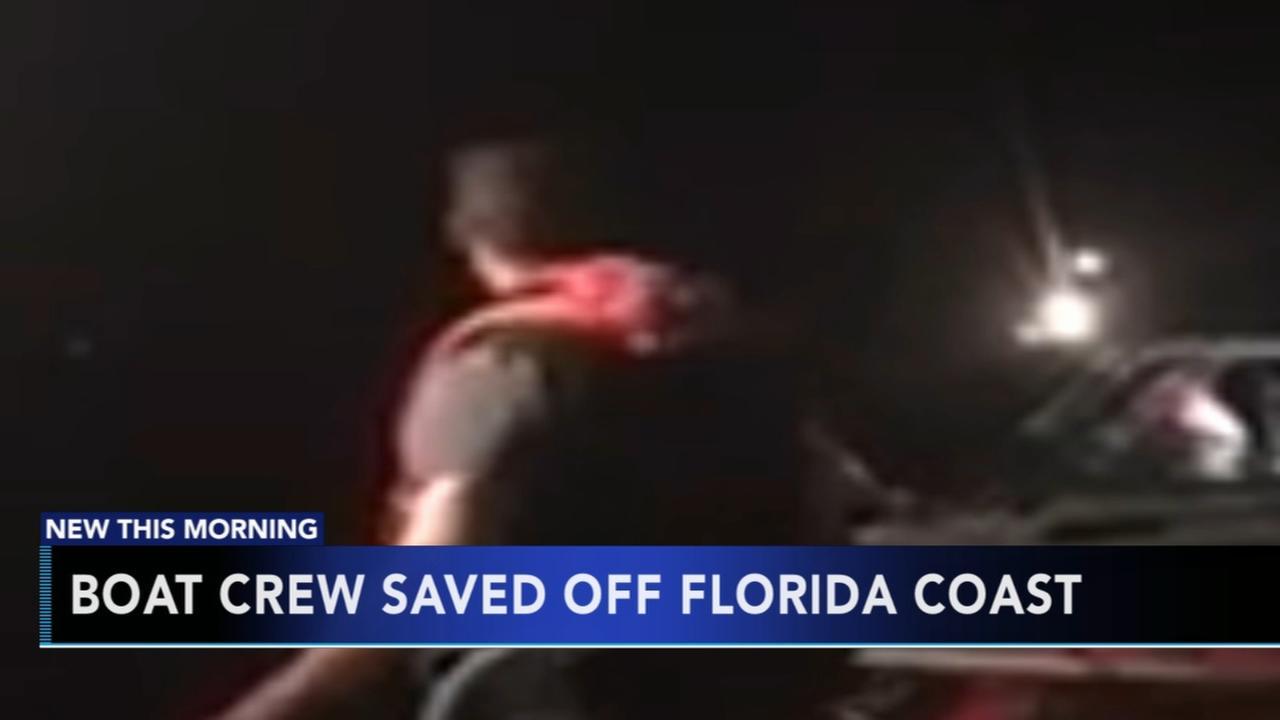 Boat crew saved off Florida coast